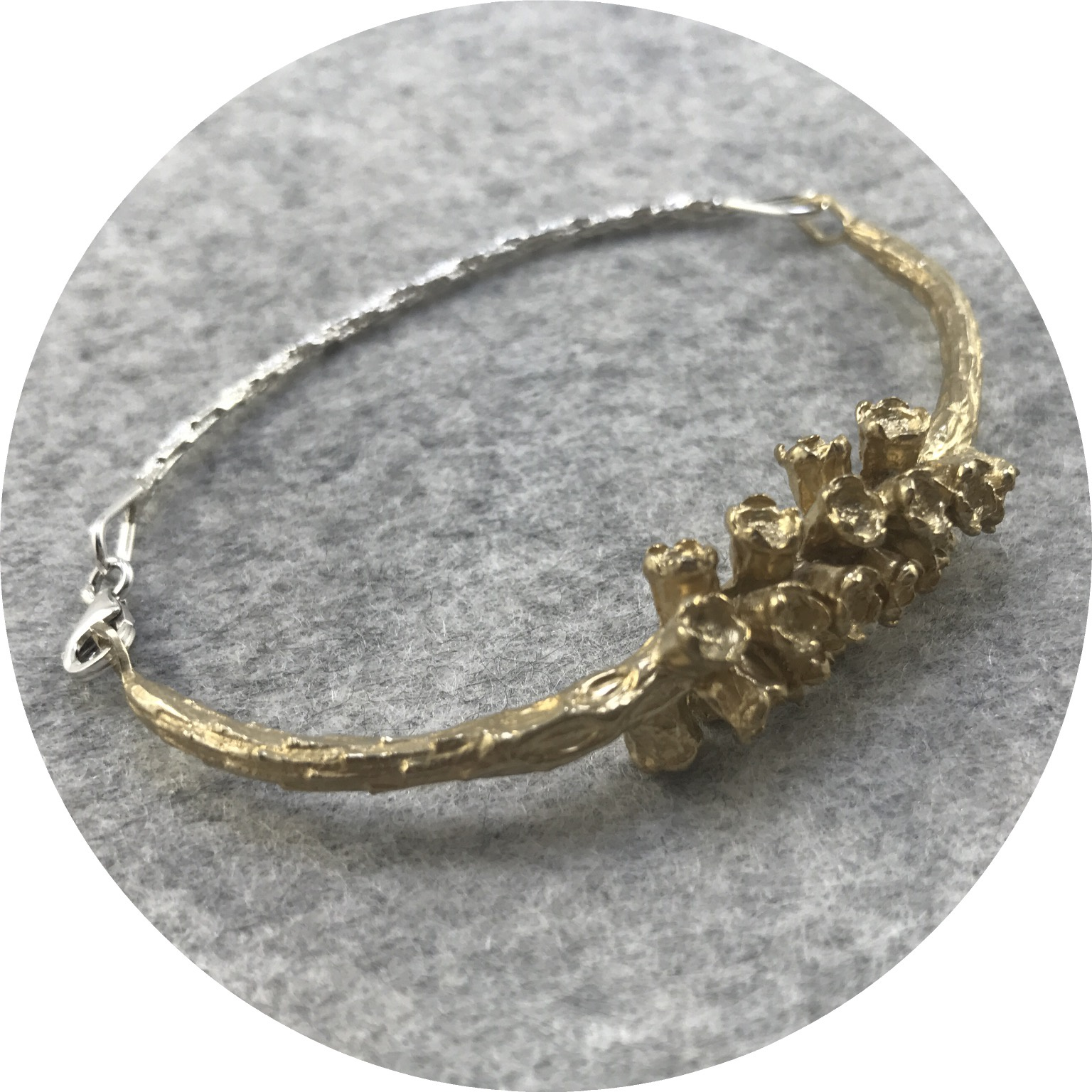 Abby Seymour- Melaleuca Bracelet. Brass and Silver.
