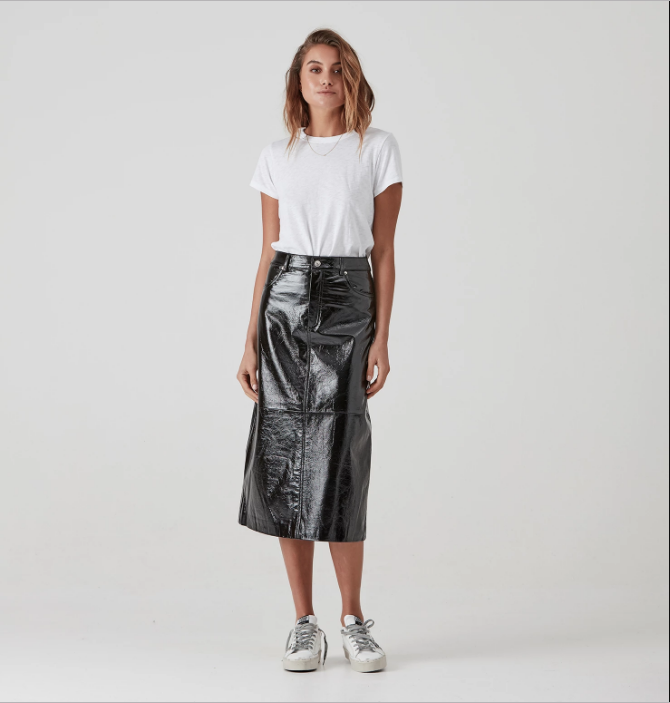 Ena Pelly Long A-Line Skirt