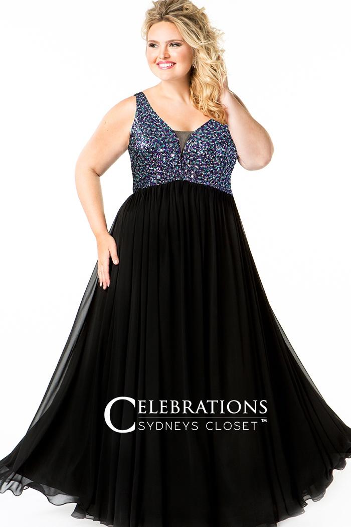 Starry Night Evening Dress Plus Size Prom Dresses Barbaras Boutique