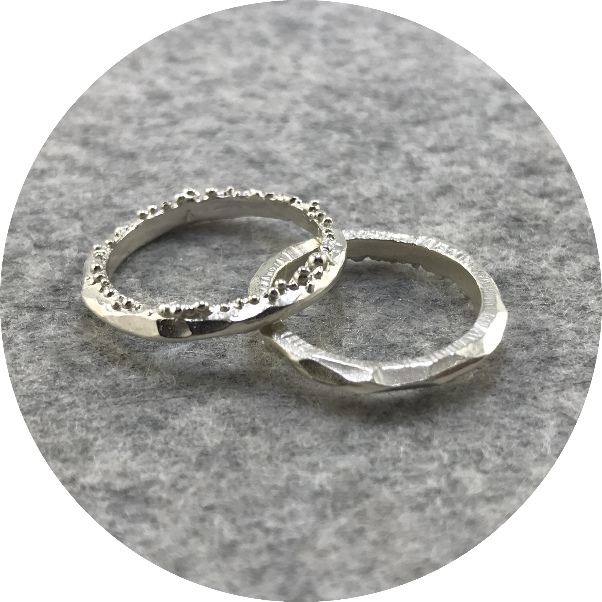 Abby Seymour- Stamen Ring. Sterling silver.