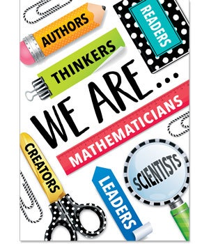 CTP 7282 BOLD & BRIGHT WE ARE... INSPIRE U POSTER