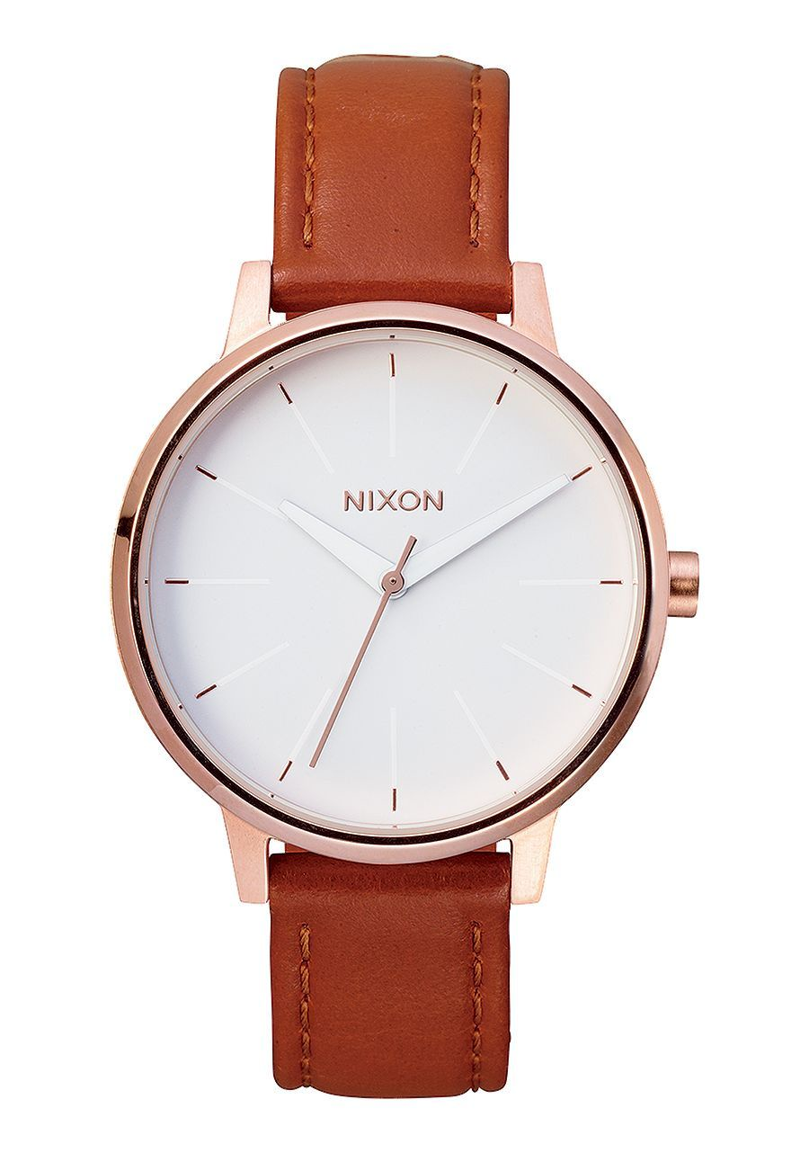 NIXON - KENSINGTON LEATHER IN ROSE GOLD/WHITE A108 1045-00