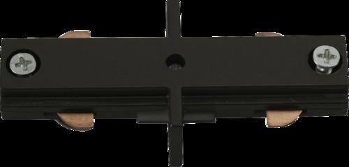 230v track In-line connector black.