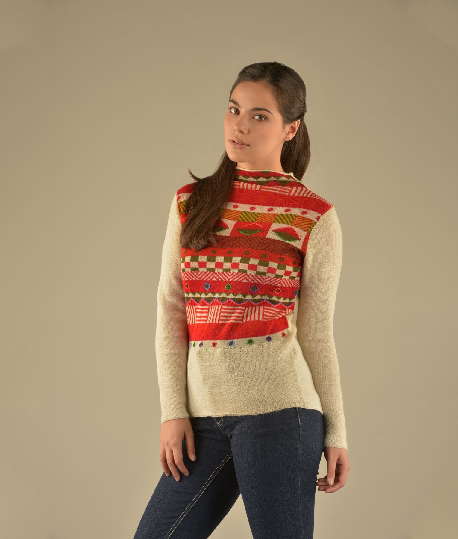 GEO DETAILED HIGH NECK PULLOVER C002