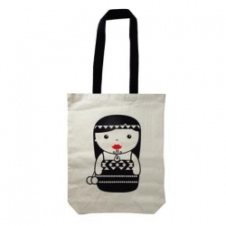 Bag Canvas Maori Girl 40x30cm