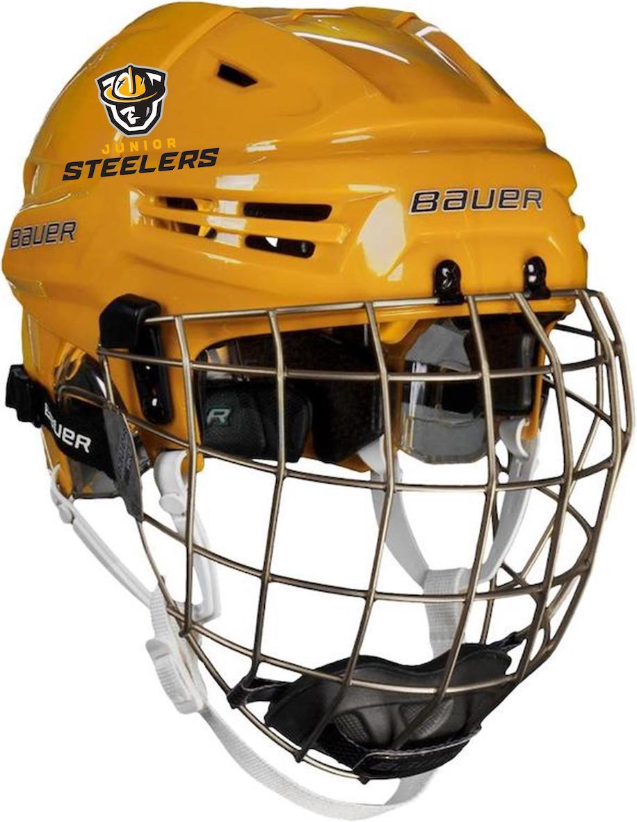 d6e621692 Home · Junior Steelers Hockey Club  Bauer Reakt Helmet Combo-Gold. Bauer  Reakt Helmet Combo-Gold
