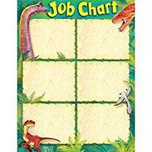 X T 38492 DISCOVERING DINOSAURS JOB CHART