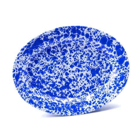 Crow Canyon Marbled Oval Platter Blue