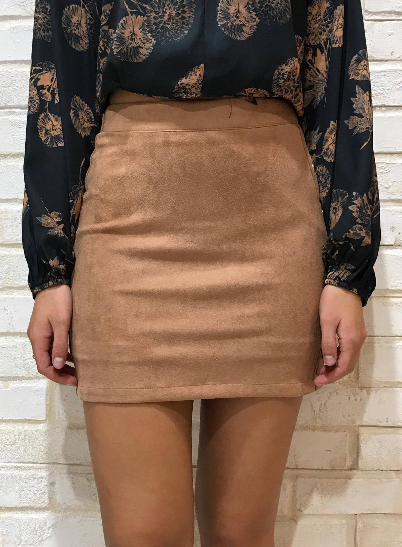 SIDE STUD SUEDE SKIRT 2204153 Image