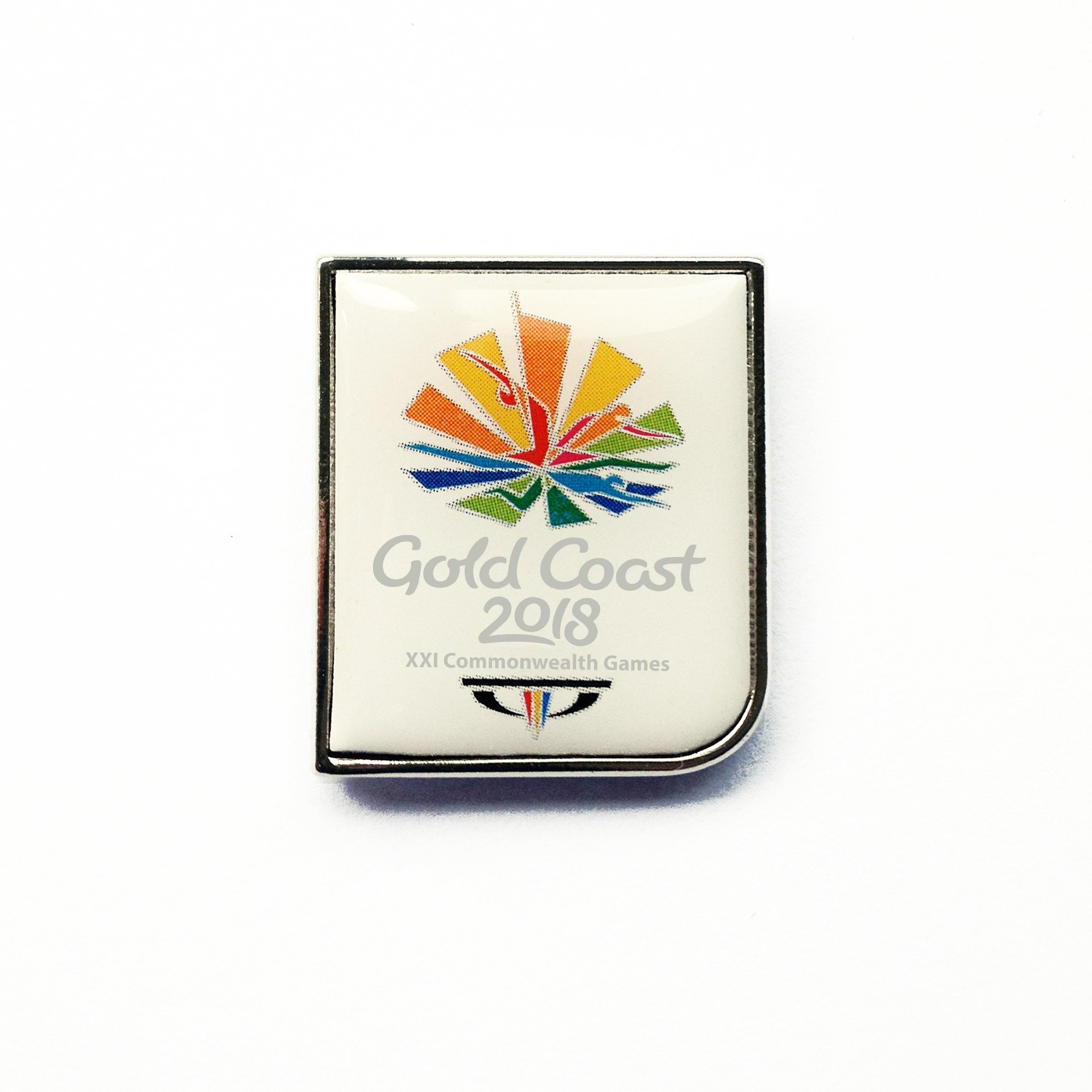 GC2018 Games Logo White Pin Image