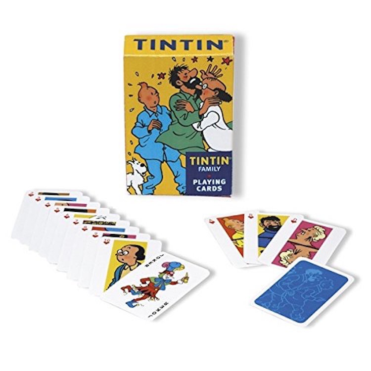 Tintin Playing Cards Family