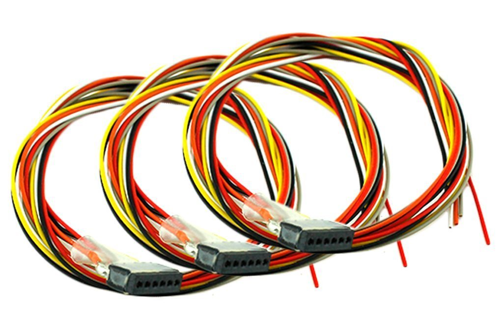 DCC-6PF3 Decoder Harness 6 Pin (300mm)(3 Pack) on