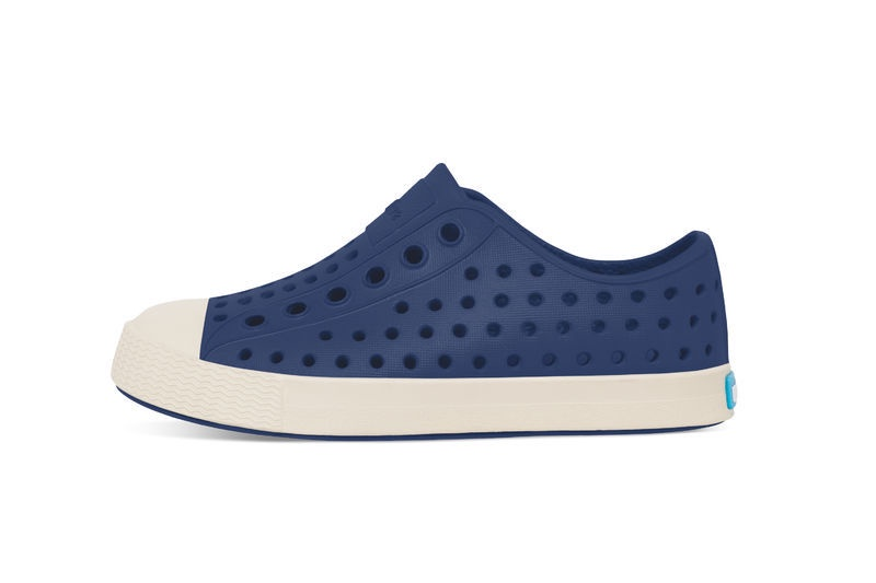 Native Jefferson Shoe Junior, Regatta Blue/Bone White