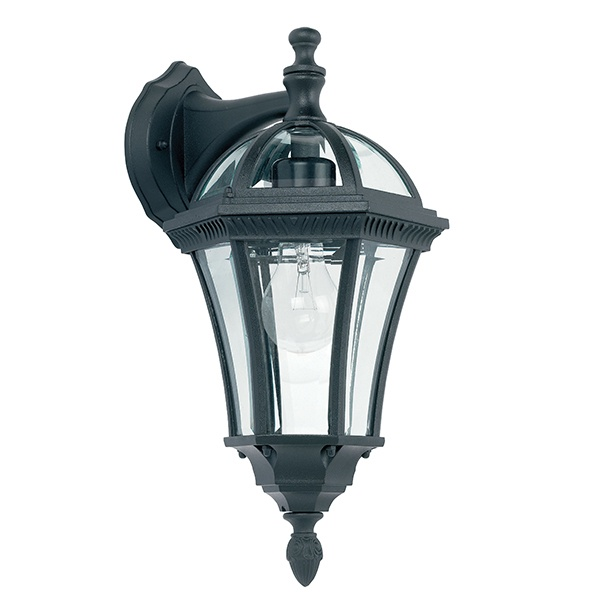 Drayton downlight 1lt wall IP44 60W - textured black