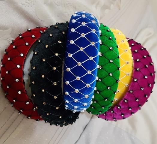 Velvet Diamonte Headband