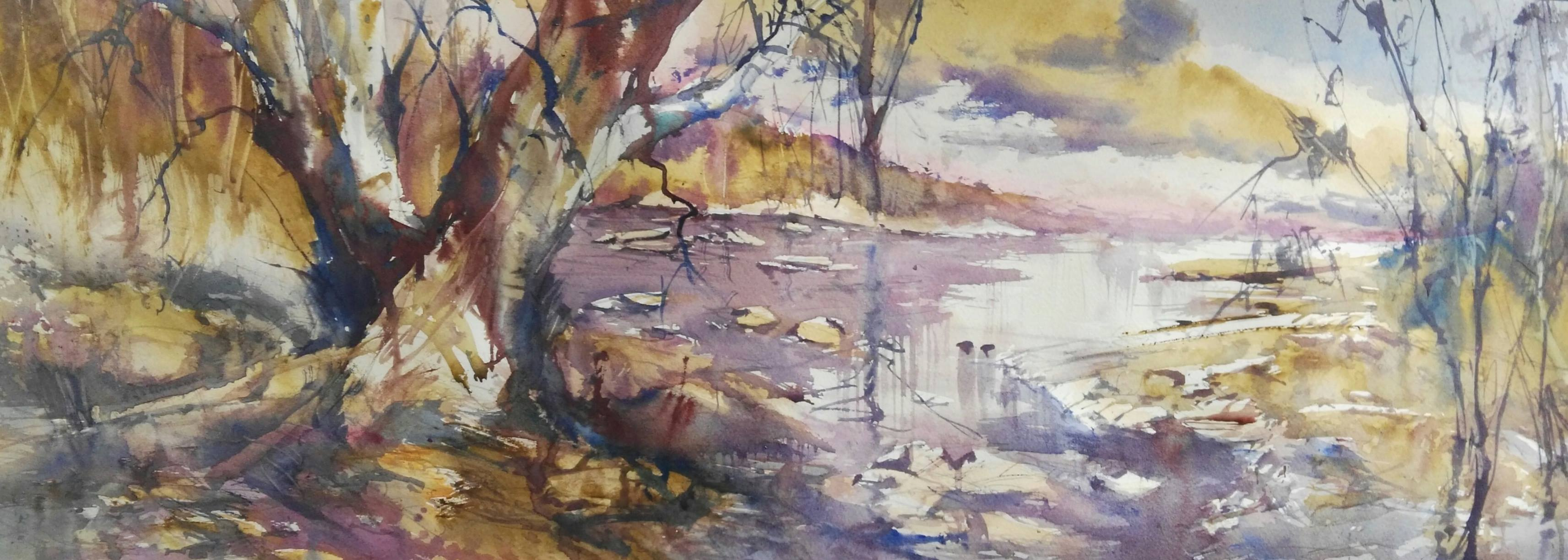 Learning to Paint Landscapes, with Alan Ramachandran a Full Day Workshop - Tuesday February 26th 10am -4pm  $100.00