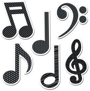 X DC CTP 4879 MUSIC SYMBOLS CUTOUTS