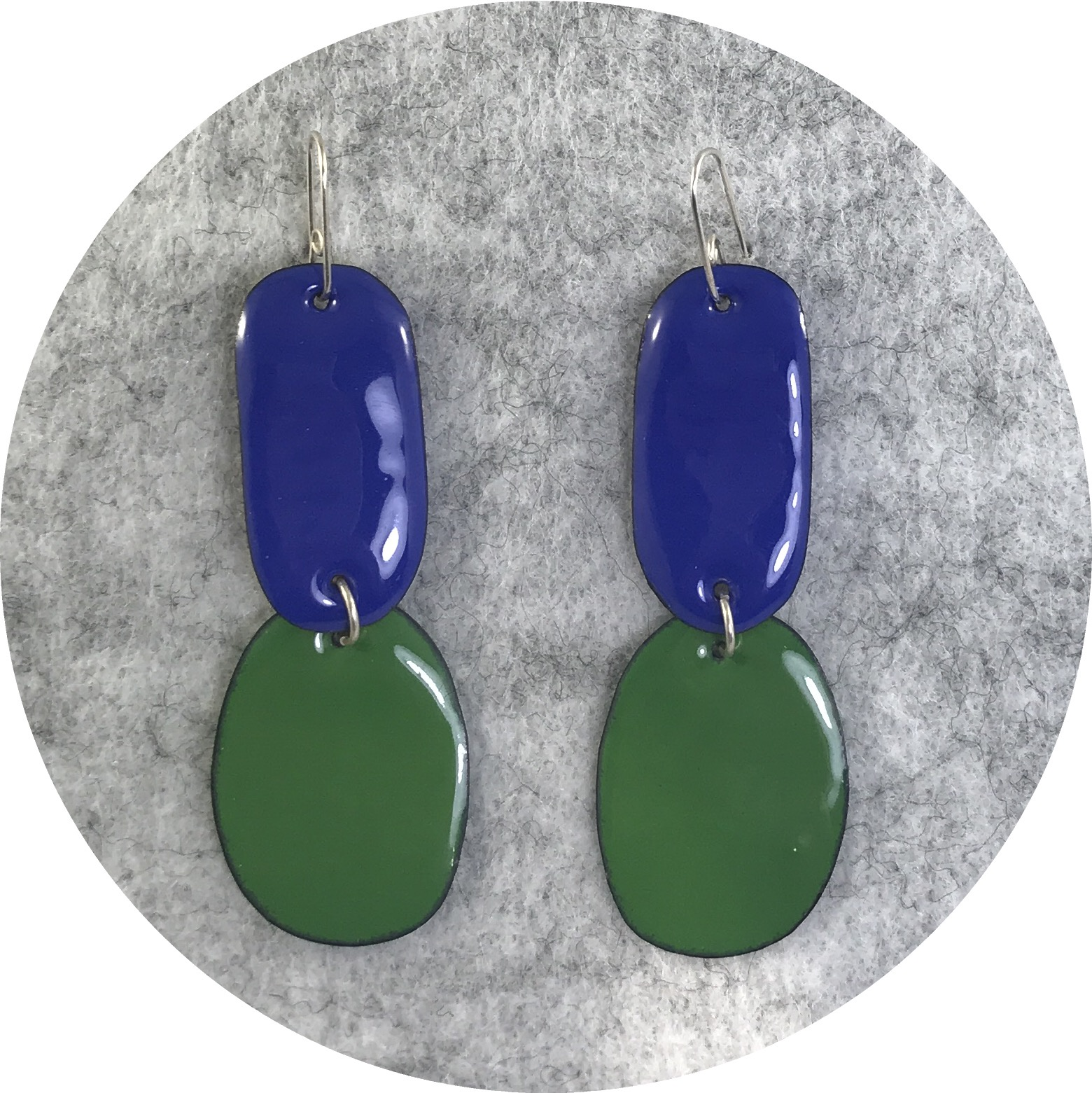 Jenna O'Brien- Enamel Double Drop earrings.