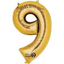 NUMBER 9 GOLD 34''