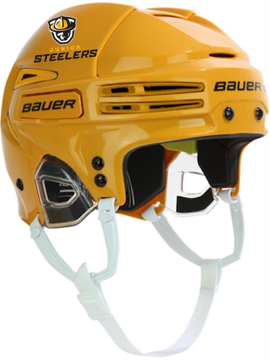 47fee279f Home · Junior Steelers Hockey Club  Bauer Reakt 75 Helmet-Gold. Bauer Reakt  75 Helmet-Gold