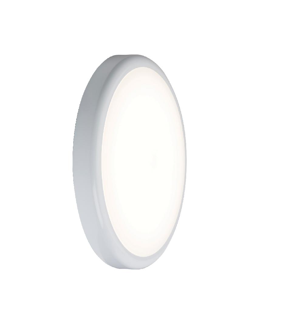 230V IP44 9W Emergency Trade LED Flush 6000K (256mm)