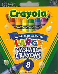 8 LARGE WASHABLE CRAYONS