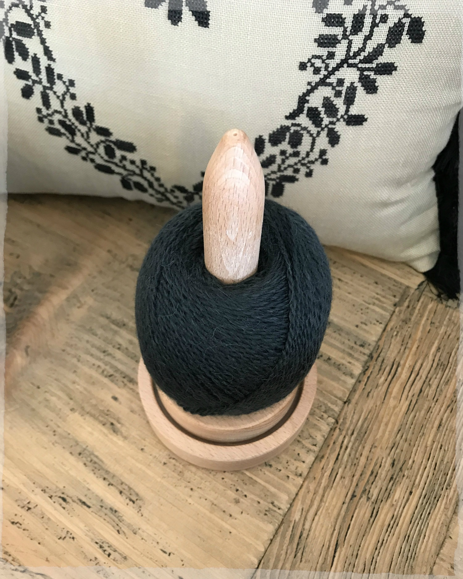 Wooden Yarn Holder