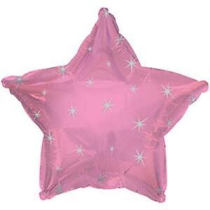 PINK SPARKLE STAR 17 INCH FOIL BALLOON