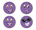 T 83205 PURPLE SMILES/GRAPE STINKY STICKERS