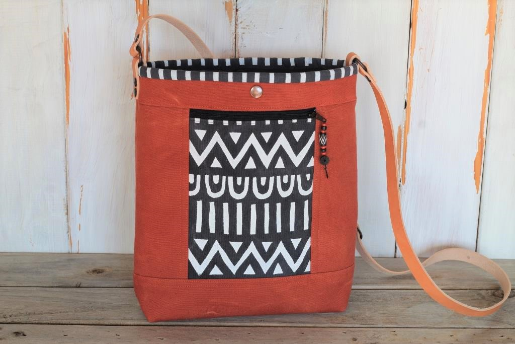 Terracotta Canvas Cross Body Bag