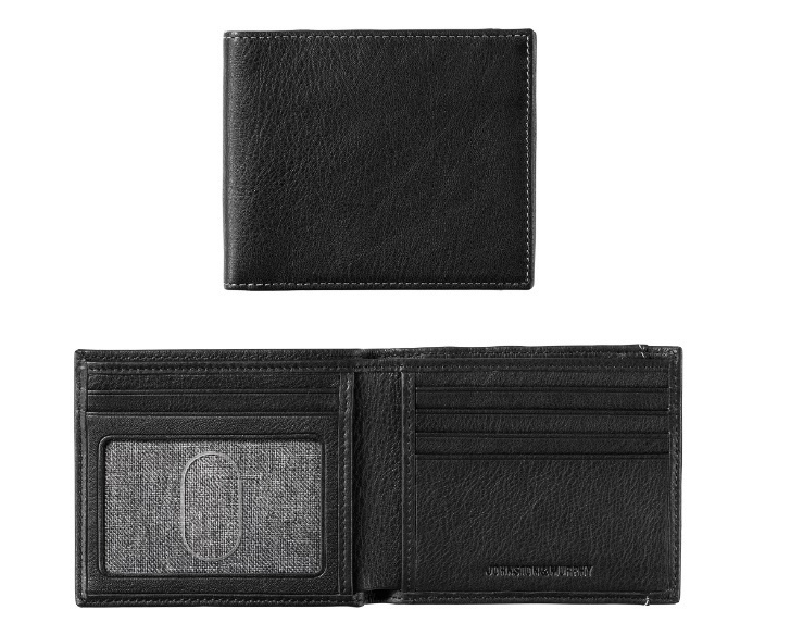 JOHNSTON & MURPHY - SUPER SLIM WALLET IN BLACK