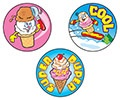 T 83410 COOL CONES/CHOCOLATE STINKY STICKERS