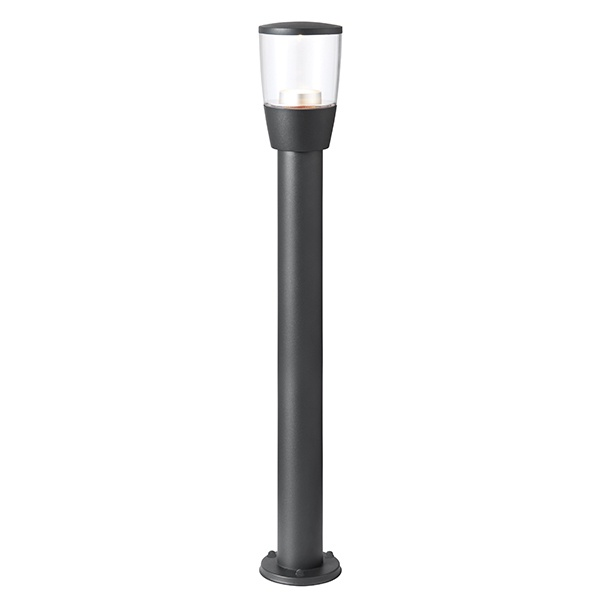 Canillo bollard IP44 3.5W cool white floor - textured dark matt anthracite
