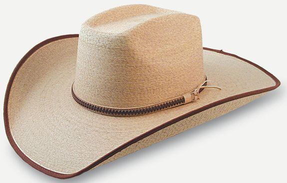 db54d10f7e328 SunBody Mexican Box Top Fine Golden Palm Leaf Cowboy Hat