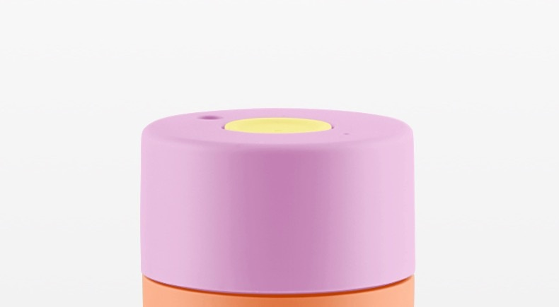 Frank Green Lid - Pink Blush/Pale Yellow