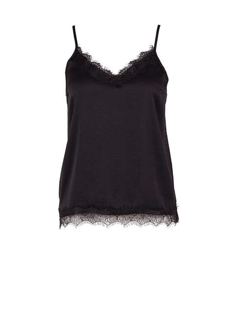 Singlet Top with lace detail by Saint Tropez