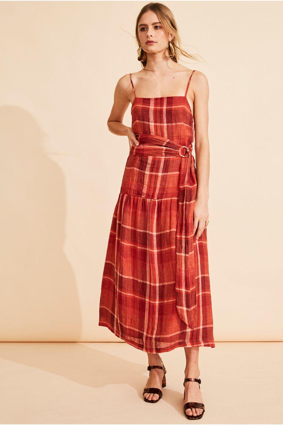 POL La Palma Belted Dress