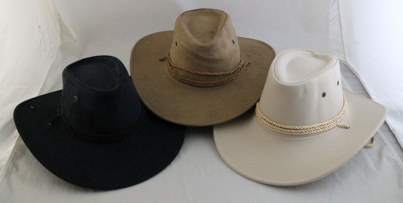 8a57be498 Suede Look Cowboy Hat - Asst Styles