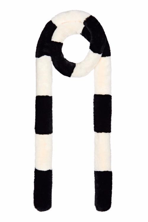 Nooki Striped Pasha Scarf Black/White