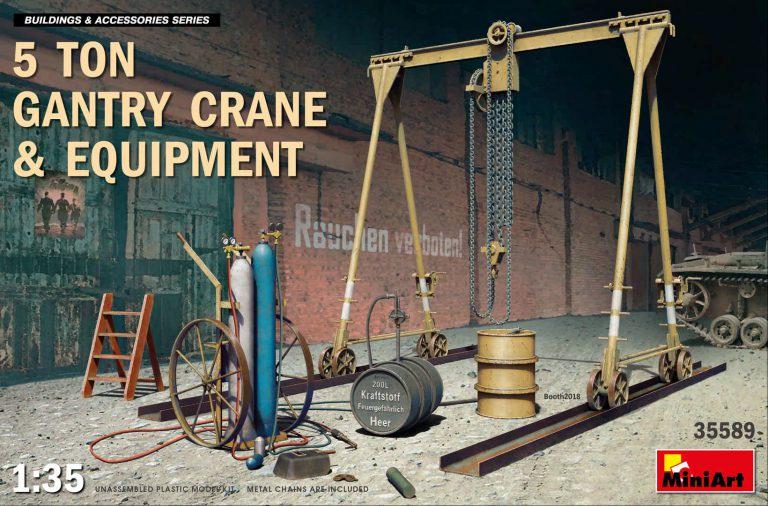 IBG Models #35589 1/35 5 Ton Gantry Crane and Equipment