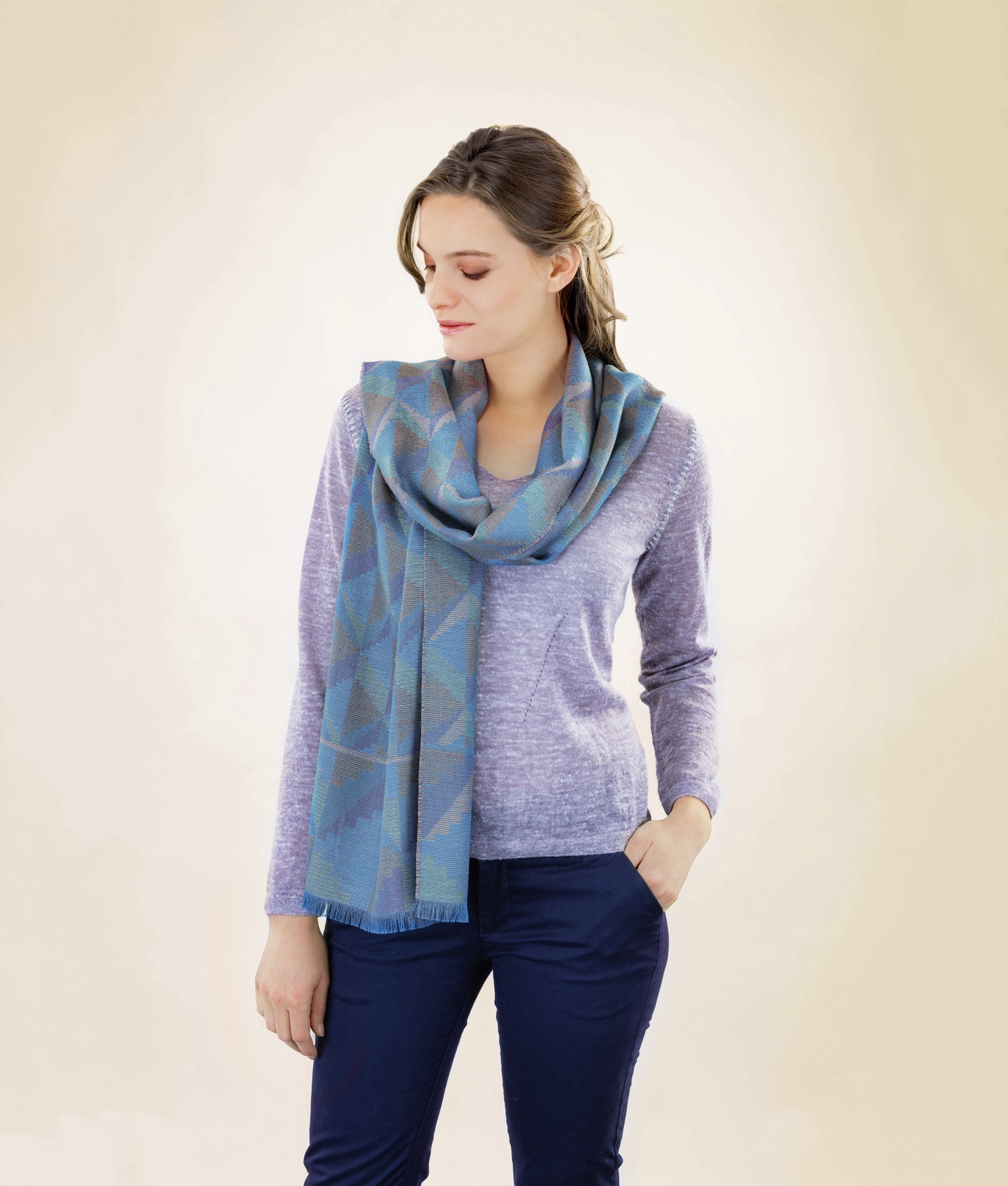 ABSTRACT GEMS SCARF C002