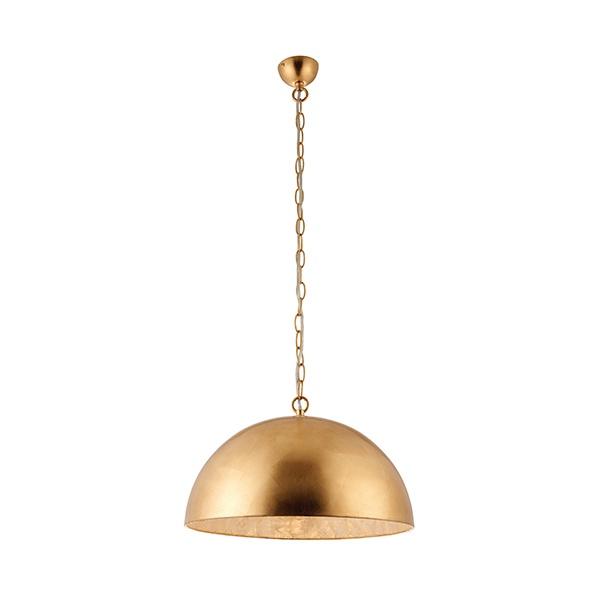 Queenie 1lt pendant 60W - gold leaf