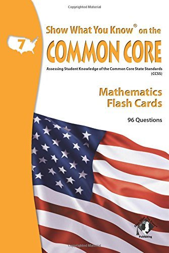 X NA 5702 SHOW WHAT YOU KNOW CC MATH FLASHCARDS 7