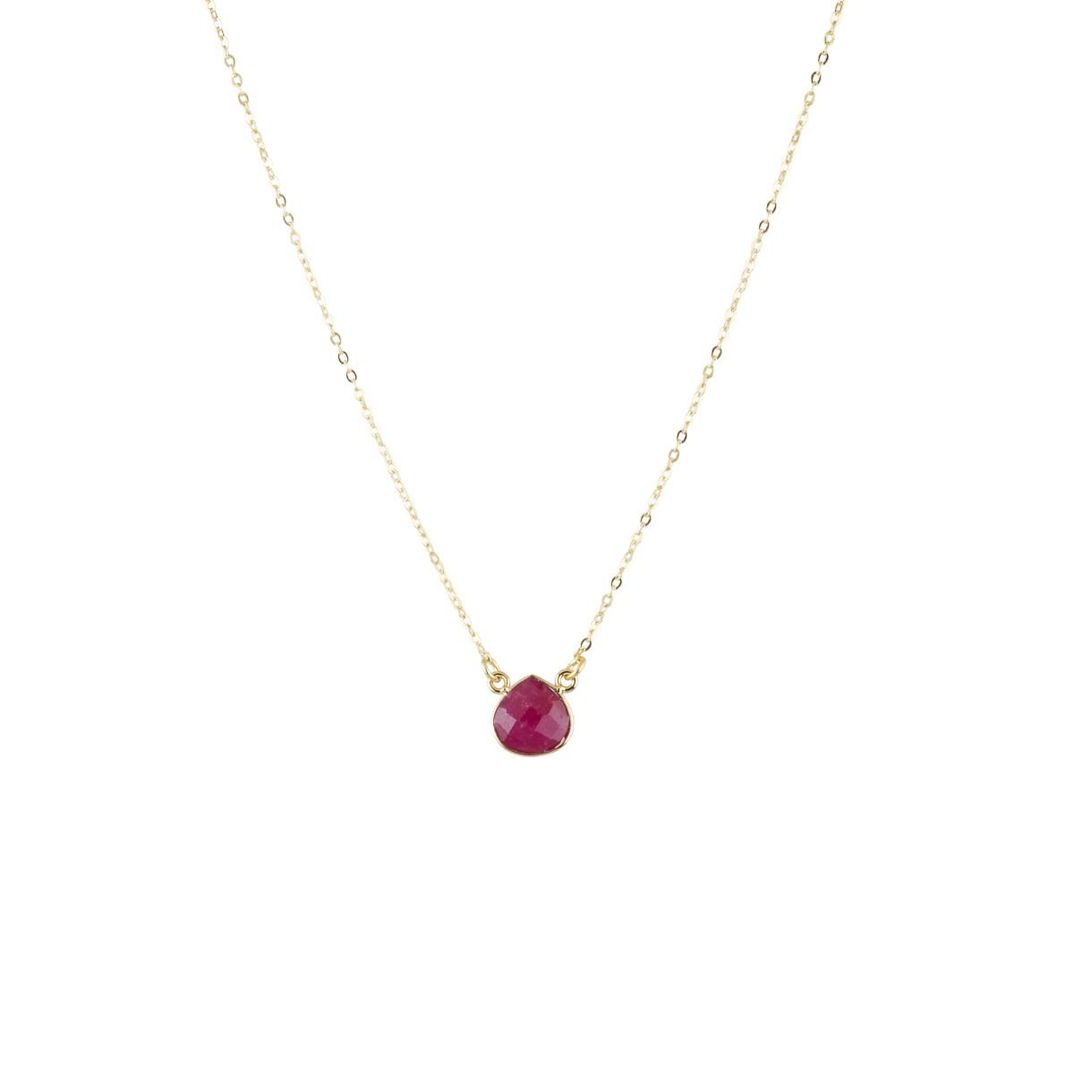 Teardrop pendant in Berry agate by Ashiana