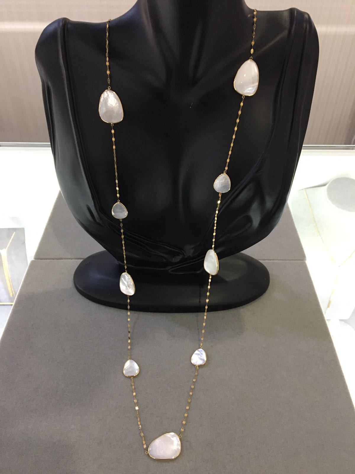 SALE! Free Shape White Mother of Pearl Necklace