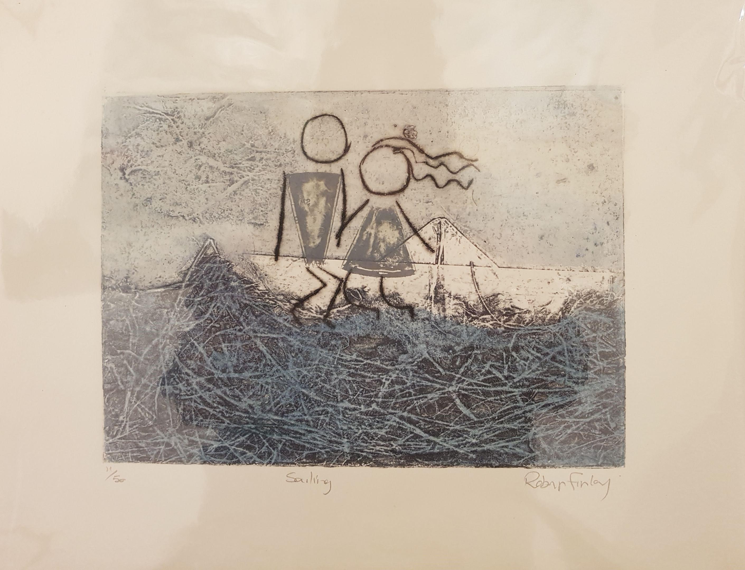 Lil' Squirts Print : Sailing