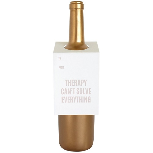 Therapy Can't Solve Everything Wine Tag