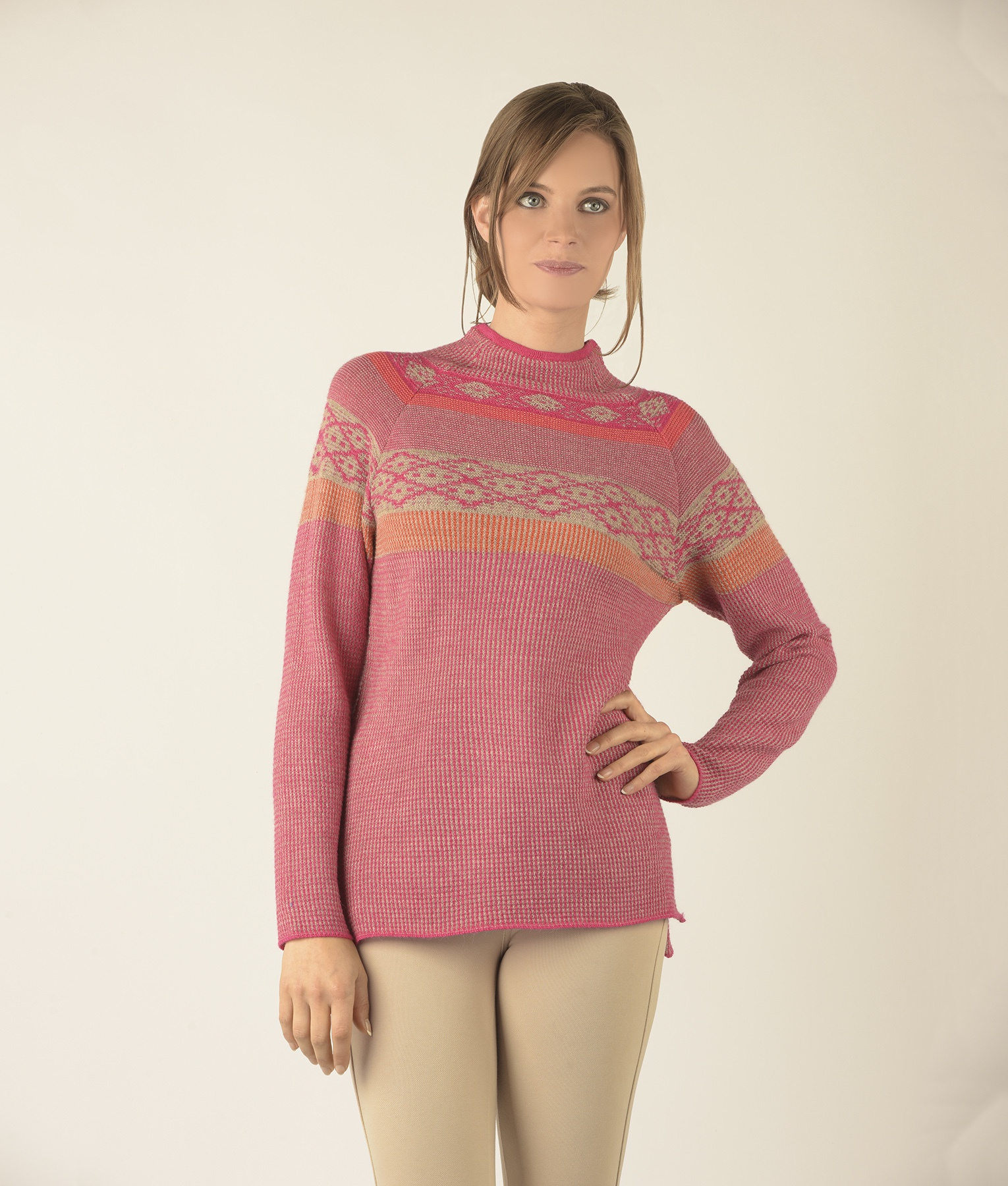 SEED STITCH TURTLE PULLOVER C002
