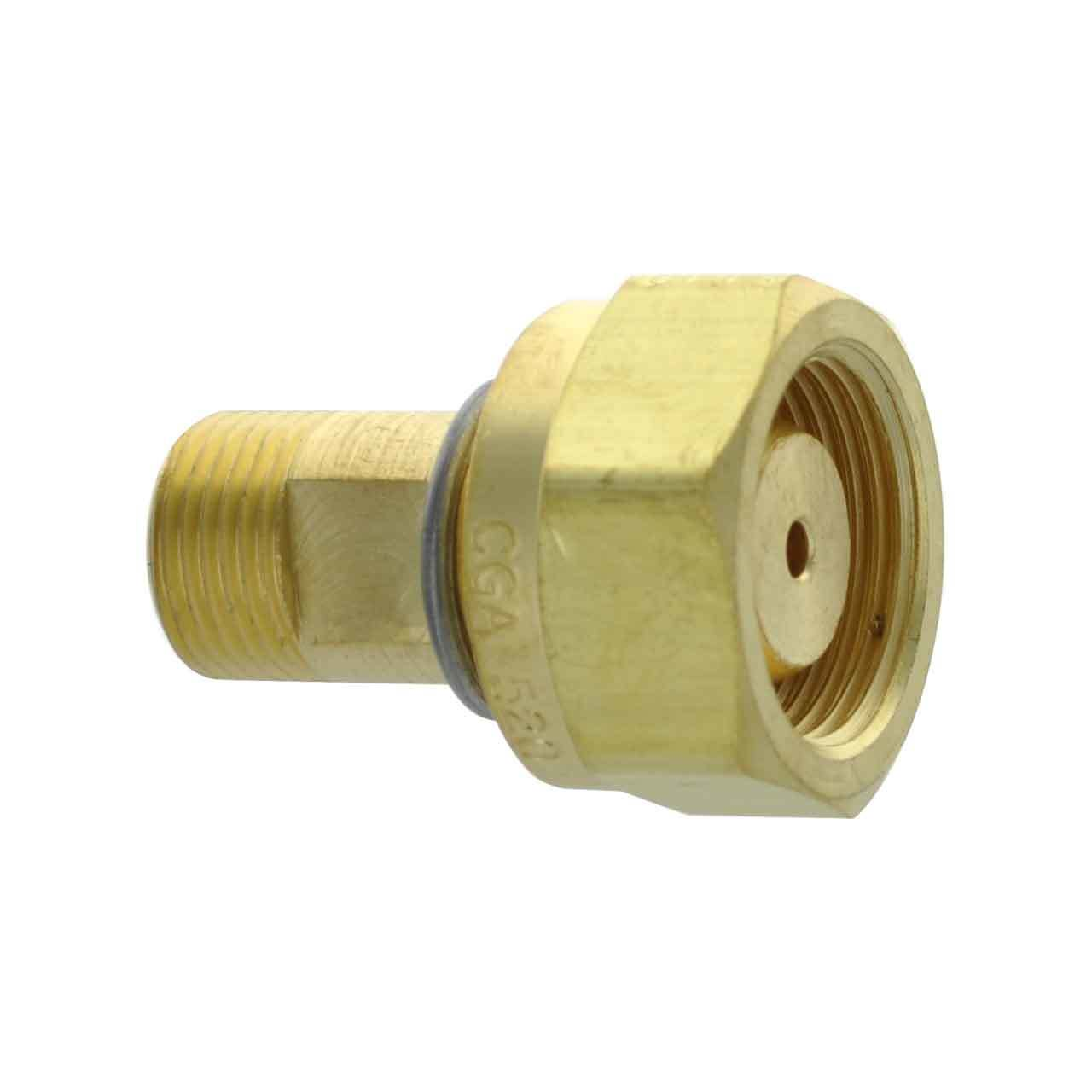 "Brass Cylinder Adaptors From CGA-200/""MC/"" Acetylene to CGA-520/""B/"" Tank Original"