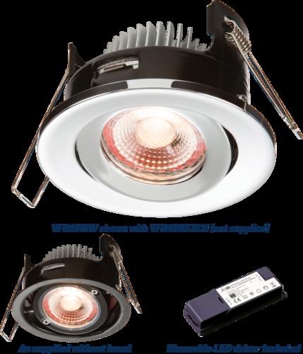 PROKNIGHT LED IP20 8W Tilt Fire-Rated Downlight 2700K